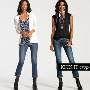CAbi Kick It Crop Jeans Style 5307, Sz 12
